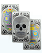 10 oz Silver Bar Set - Three Skulls