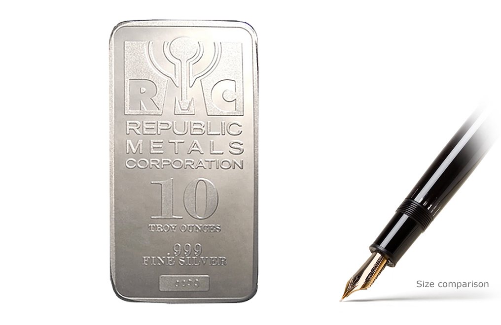 Buy RMC 10 oz Silver Bars, image 2