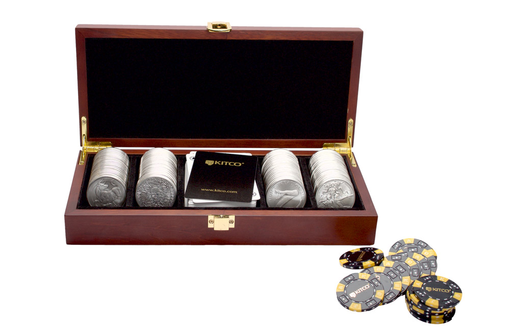 Buy 100 oz Silver Round Poker Set, image 0