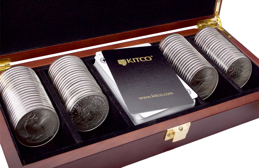 Buy 100 oz Silver Round Poker Set, image 2