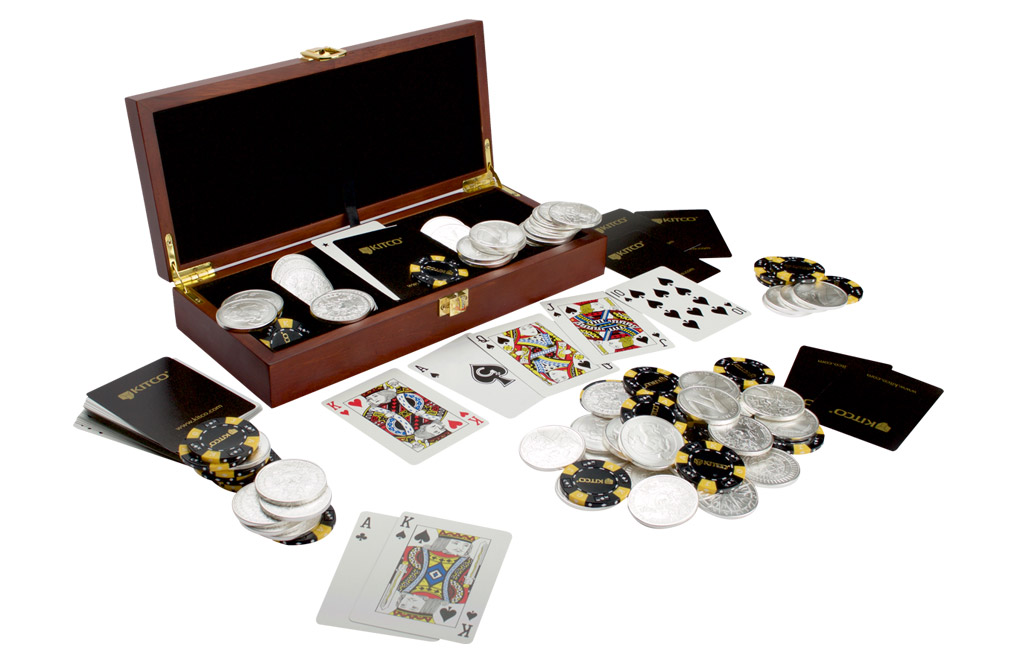 Buy 100 oz Silver Round Poker Set, image 3