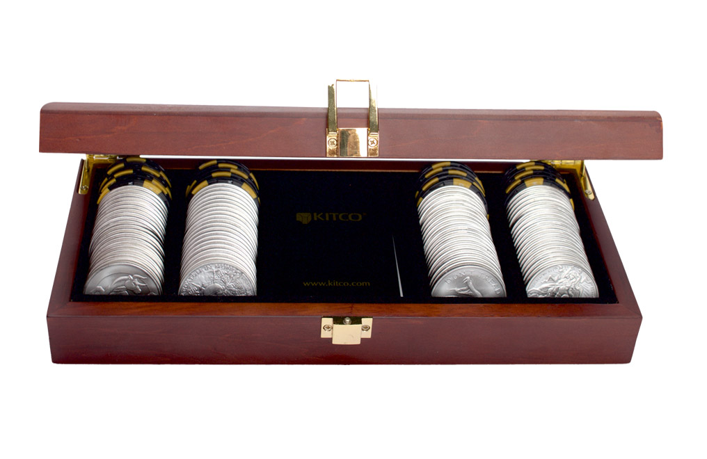 Buy 100 oz Silver Round Poker Set, image 5