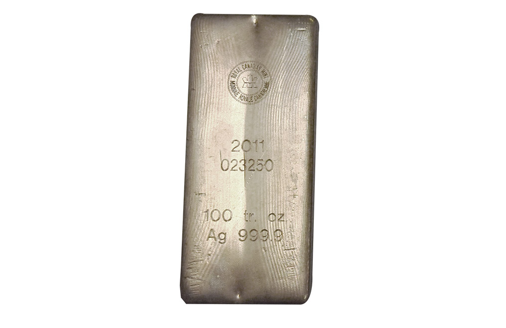 Buy 100 oz Silver Bars - Royal Canadian Mint (Previous Design) .9999 pure, image 1
