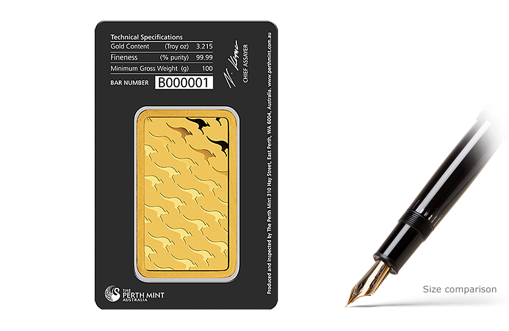 Buy 100 gram Gold Perth Mint Bars, image 1