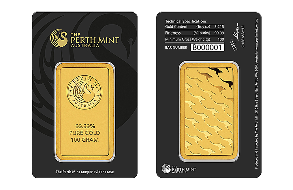 Sell 100 gram Gold Perth Mint Bar, image 2