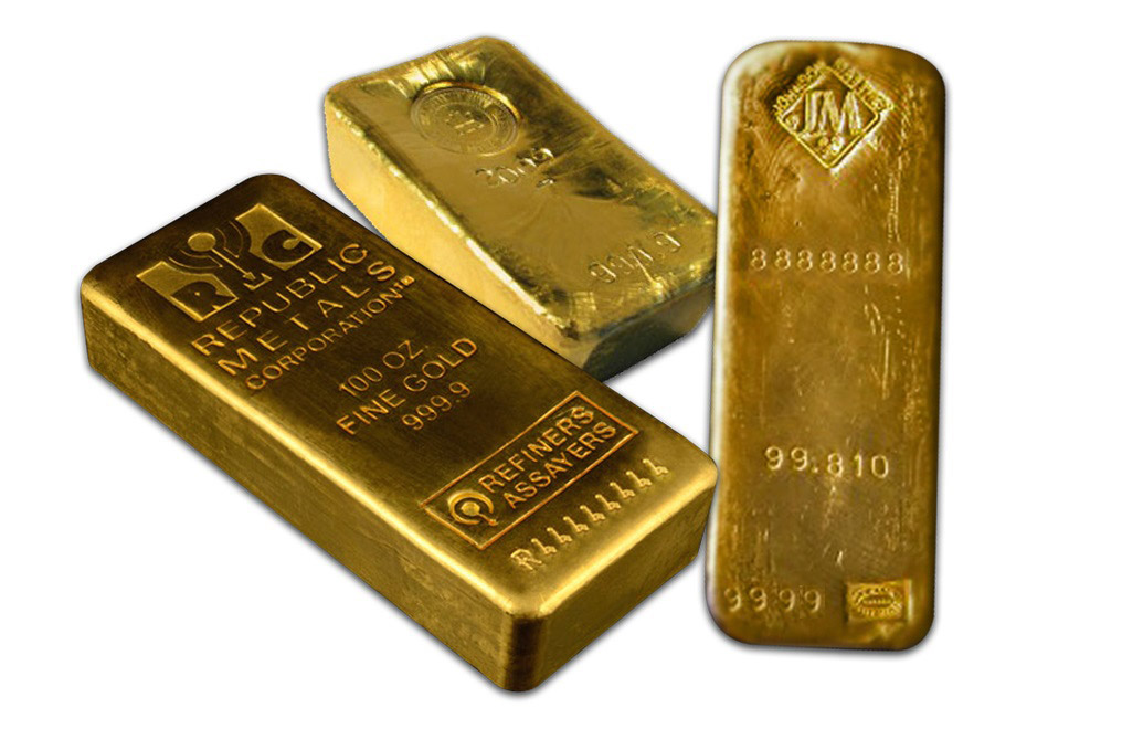 100 Oz Gold Bars Image 0