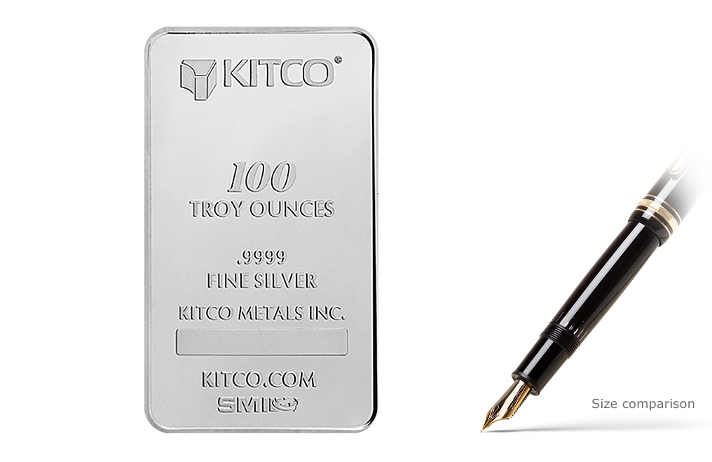 Sell 100 Oz Silver Kitco Bars Sell 100 Oz Silver Bars