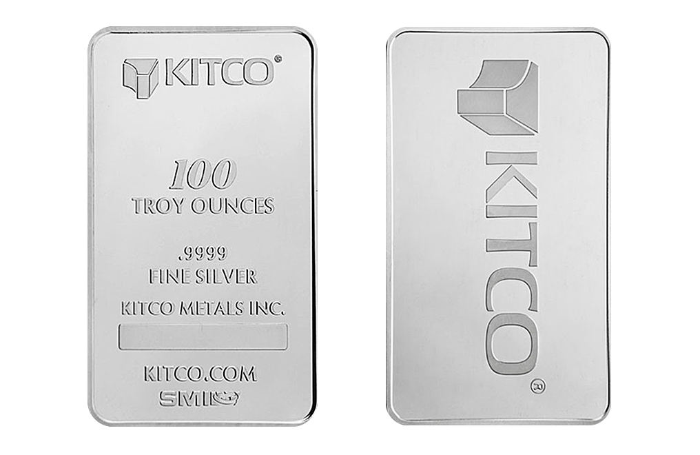 Buy 100 oz Silver Kitco Bars, image 2