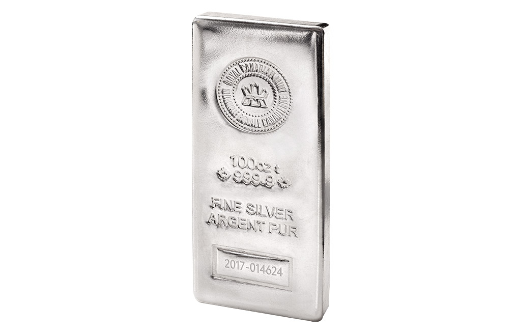 Buy Canadian 100 oz Silver Bars, image 1