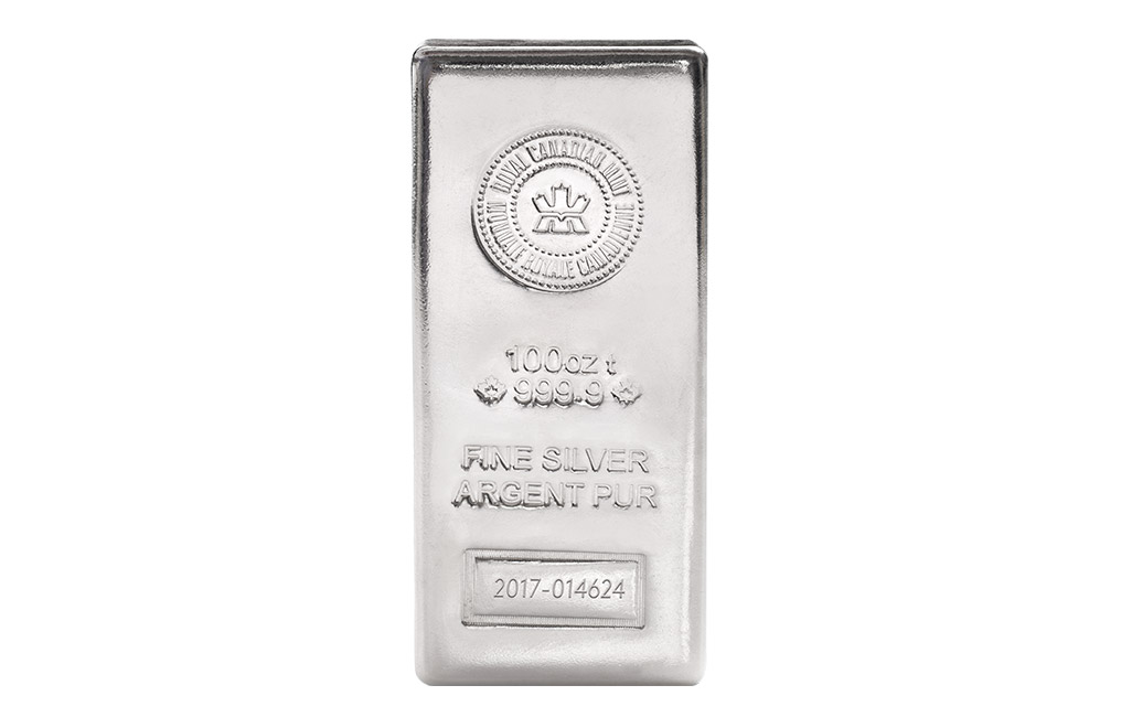 Buy Canadian 100 oz Silver Bars, image 0