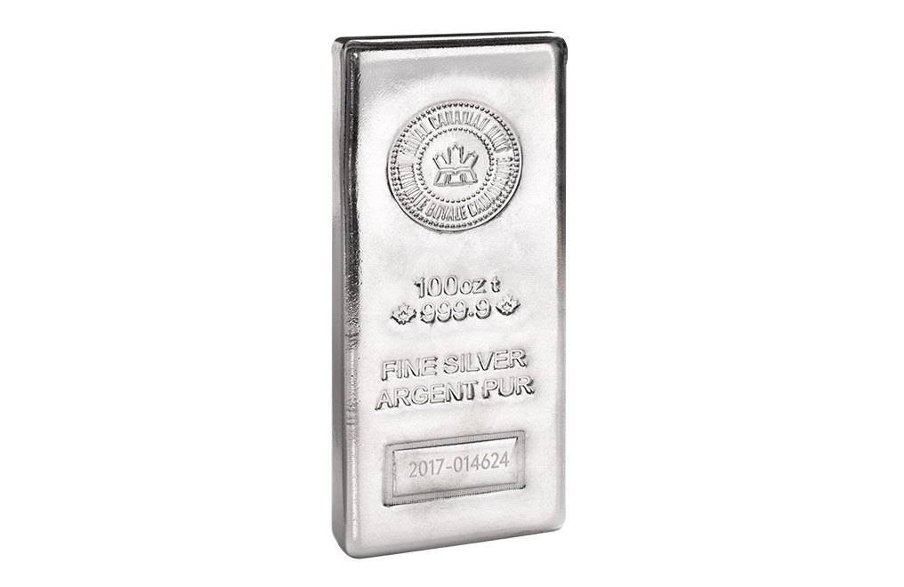 Buy Canadian 100 oz Silver Bars, image 2