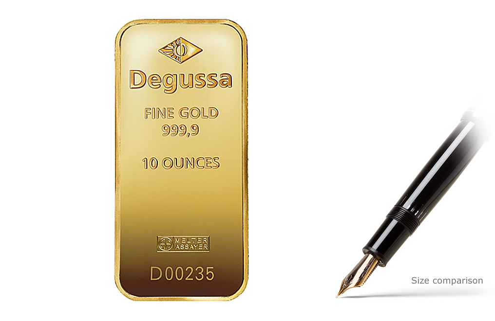 Sell 10 oz Gold Degussa Bars, image 0