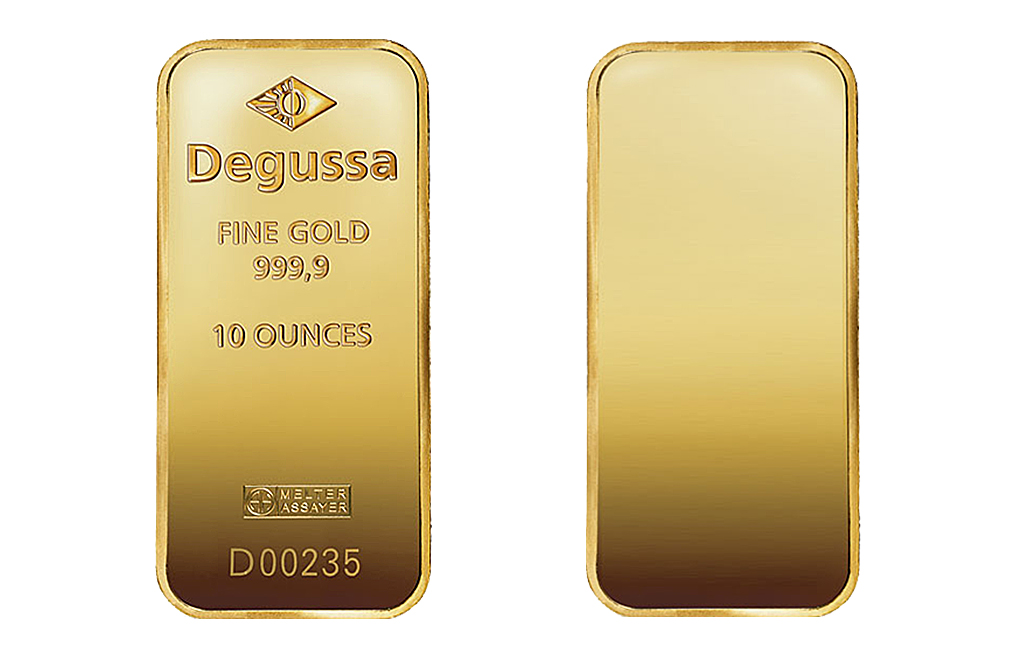 Sell 10 oz Gold Degussa Bars, image 1