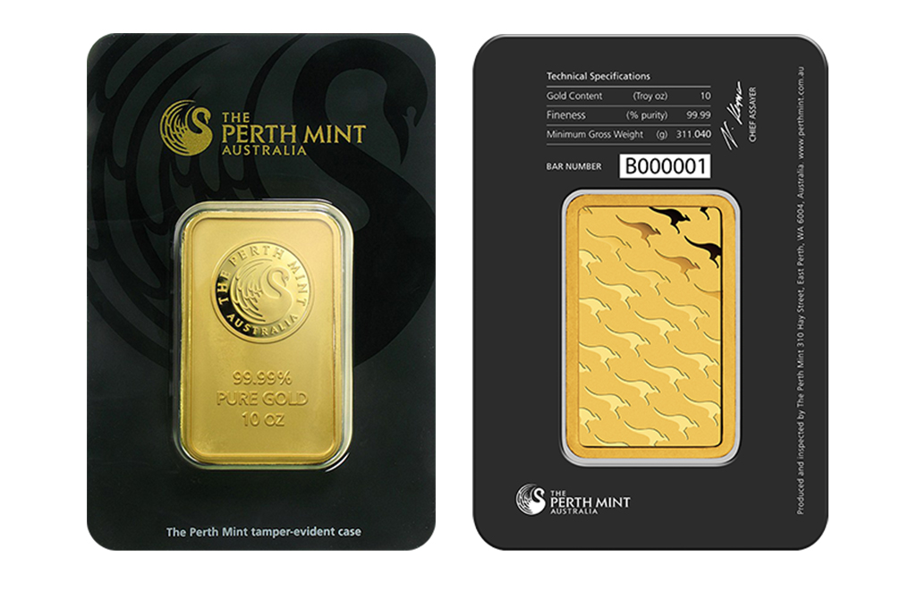 Sell 10 oz Gold Perth Mint Bars, image 2