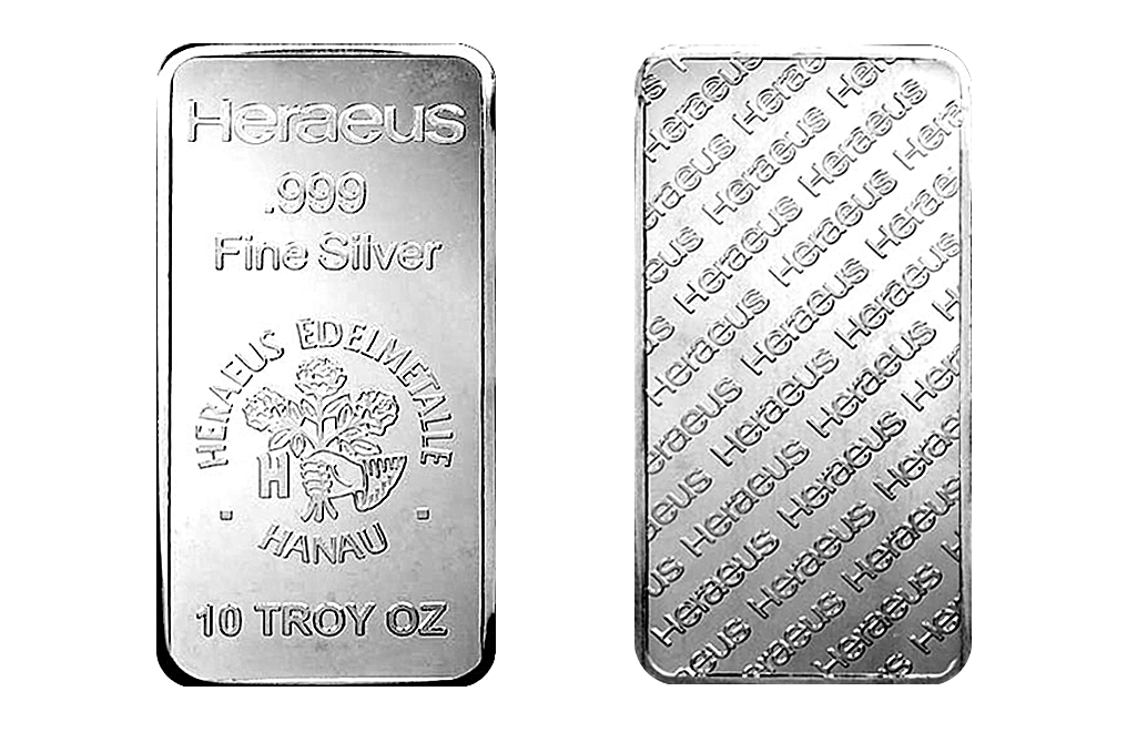 Buy 10 oz Silver Heraeus Bars, image 2