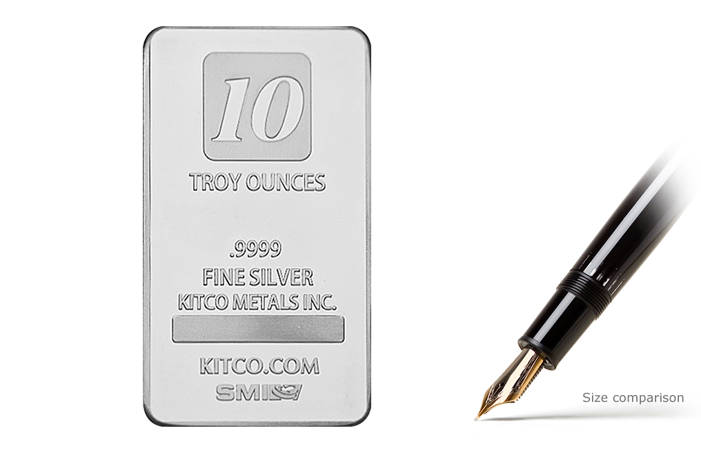 Buy 10 oz Silver Kitco Bars, image 0
