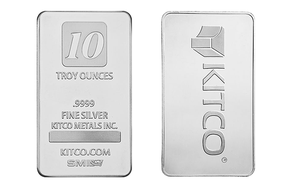 Buy 10 Oz Silver Kitco Bars Buy Silver Bullion Bars Kitco