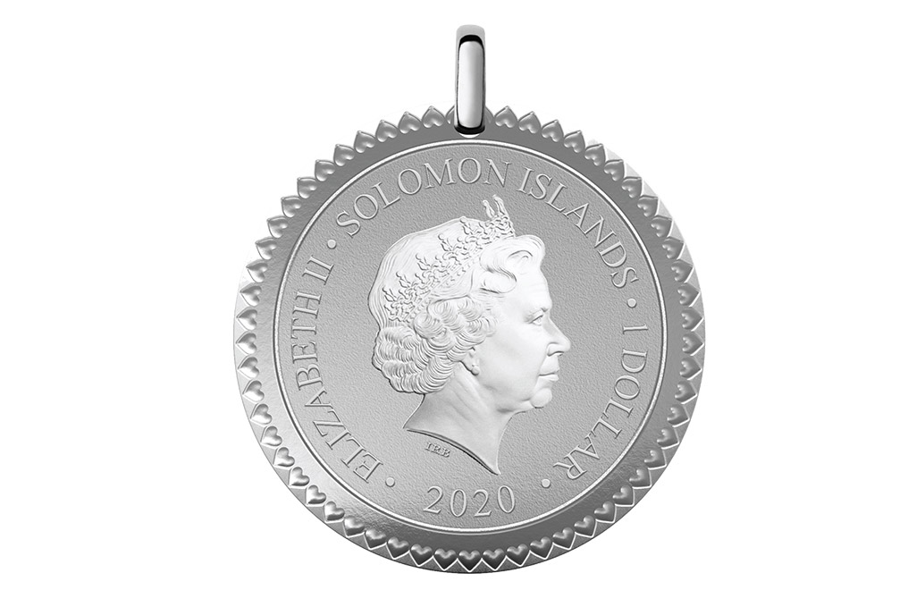 Buy 12 g Silver Coin Pendant .9999 - All My Love to You, image 1