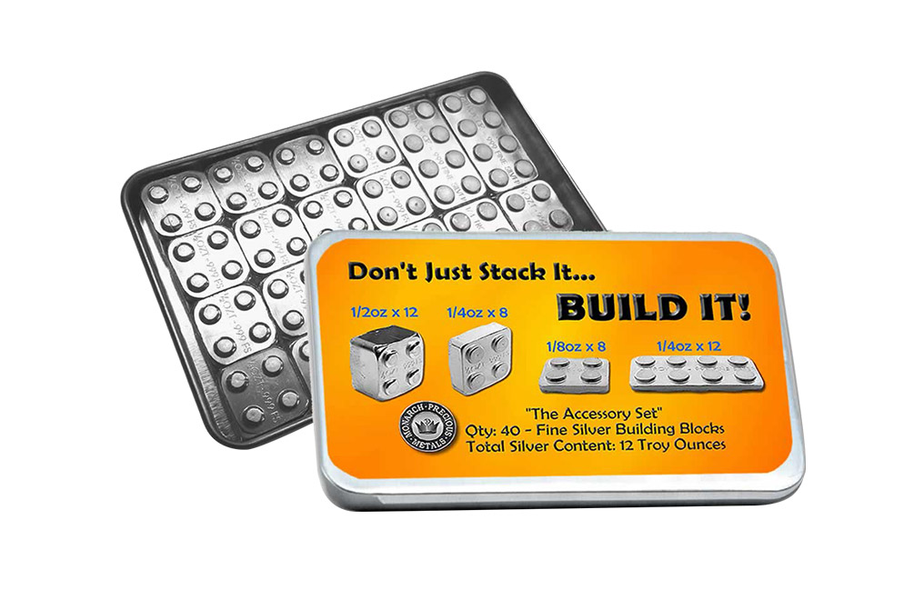 Buy 12 oz Building Block Bars Accessory Set .999, image 0