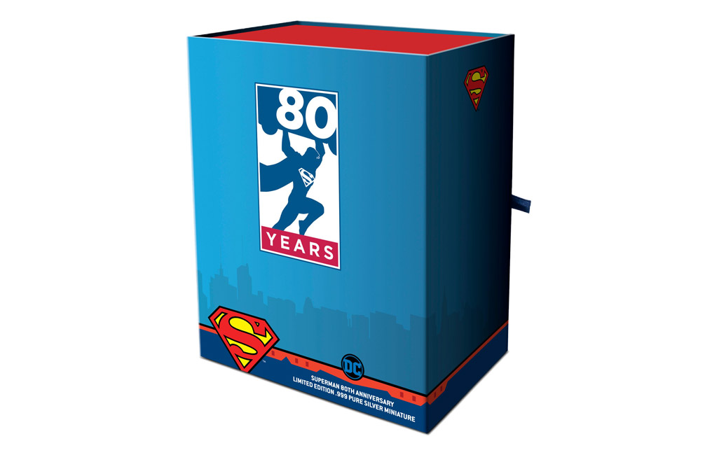 Buy 150 g Silver Miniature .999 - Superman 80th Anniversary, image 4