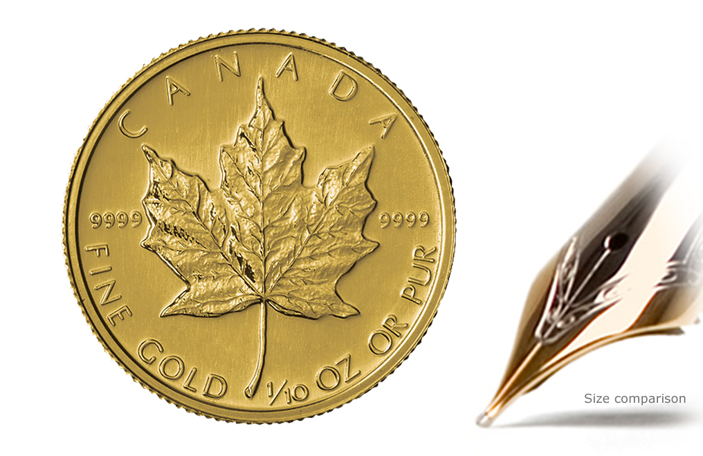 1 10 Oz Canadian Gold Maple Leaf Coins Image 0