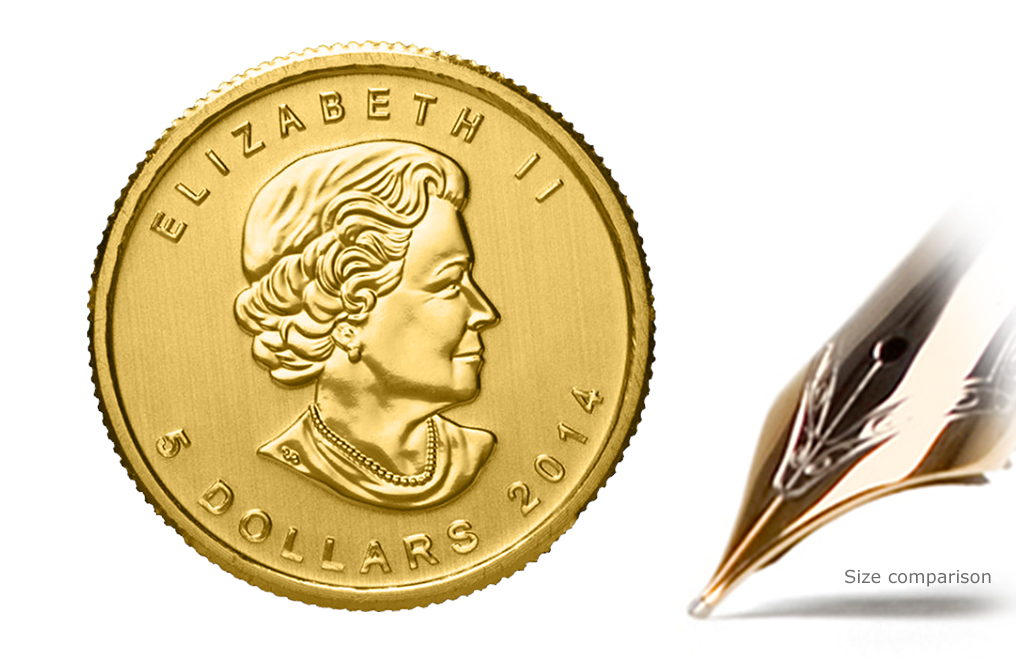 1 10 Oz Canadian Gold Maple Leaf Coins Image
