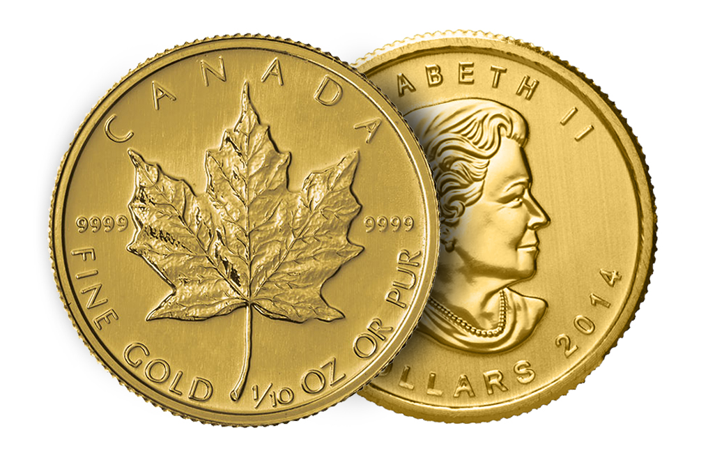 Buy 1/10 oz Canadian Gold Maple Leaf Coins