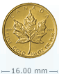 1/10 oz Gold Canadian Maple Leaf Coin[US shipping week of April 20]