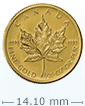 1/20 oz Gold Canadian Maple Leaf Coin[US shipping week of April 20]