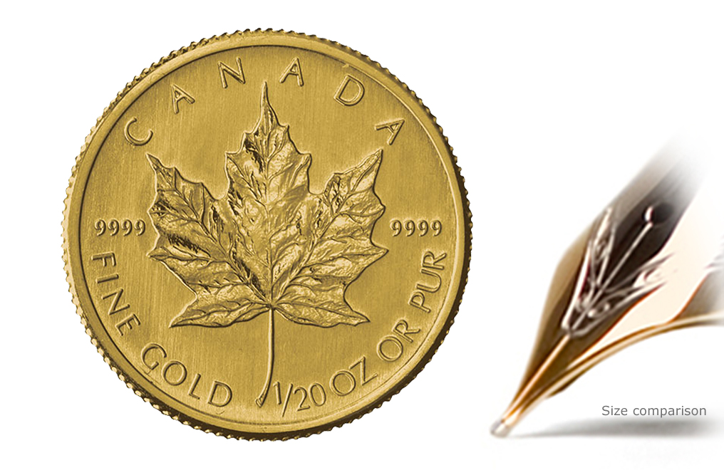 Sell 1/20 oz Gold Canadian Maple Leaf Coins, image 0