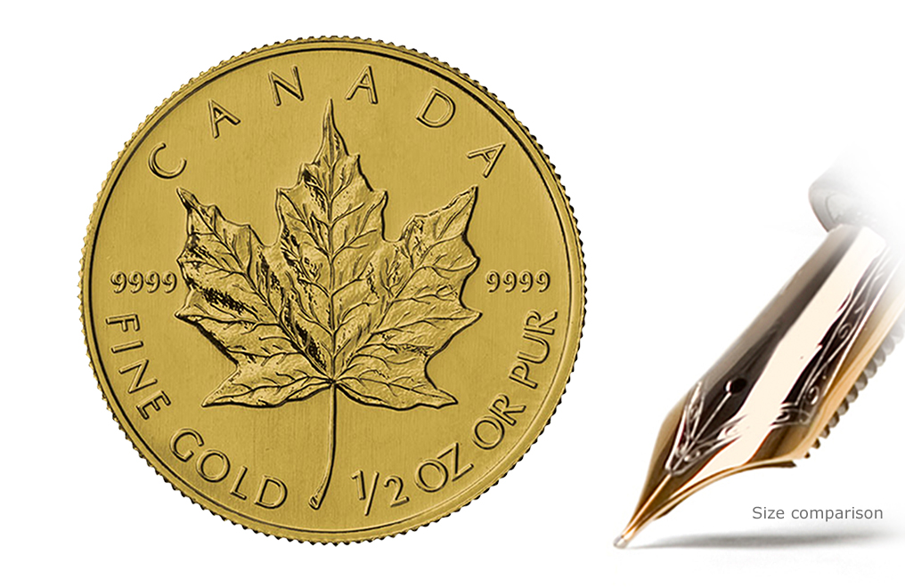Buy 1/2 oz Gold Canadian Maple Leaf Coin