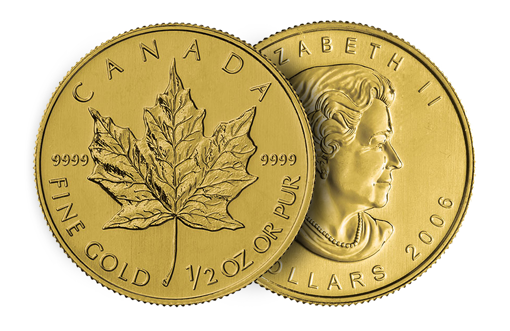 1 2 Oz Gold Canadian Maple Leaf Coin Image