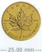 1/2 oz Gold Canadian Maple Leaf Coin