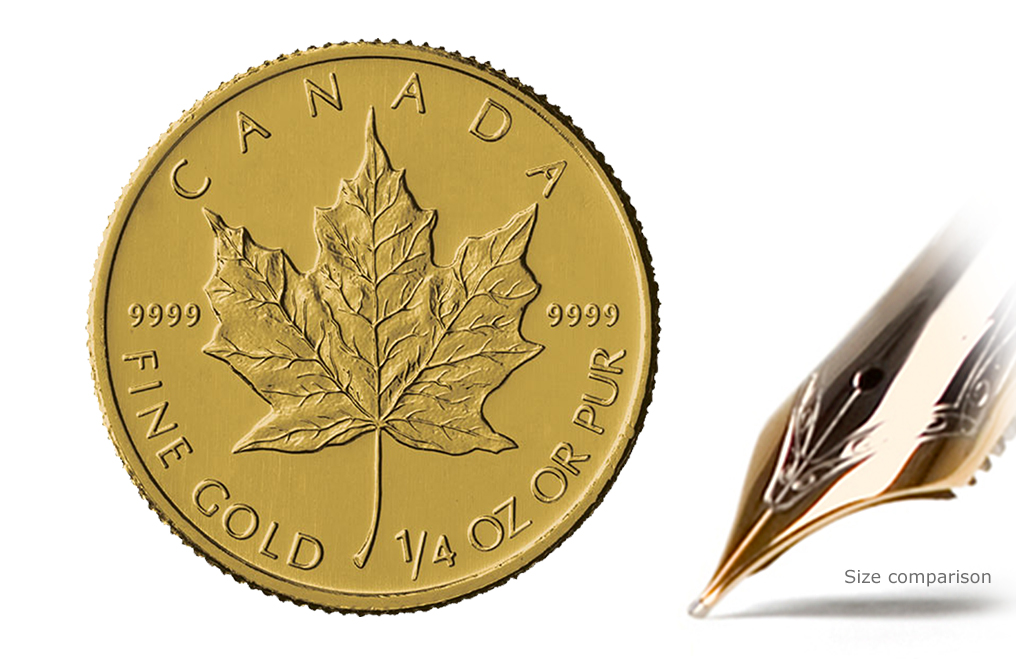 Buy 1/4 oz Gold Canadian Maple Leaf Coins, image 0