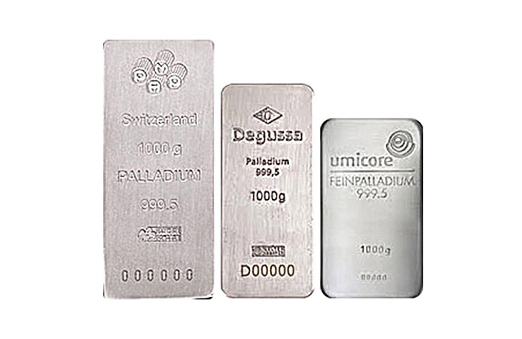Sell 1 kilo Palladium Bars, image 0