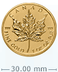 1979 - 1982 1 oz Gold Canadian Maple Leaf Coin .999 Purity