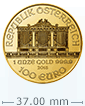 1 oz Gold Austrian Philharmonic Coin[US shipping week of April 20]