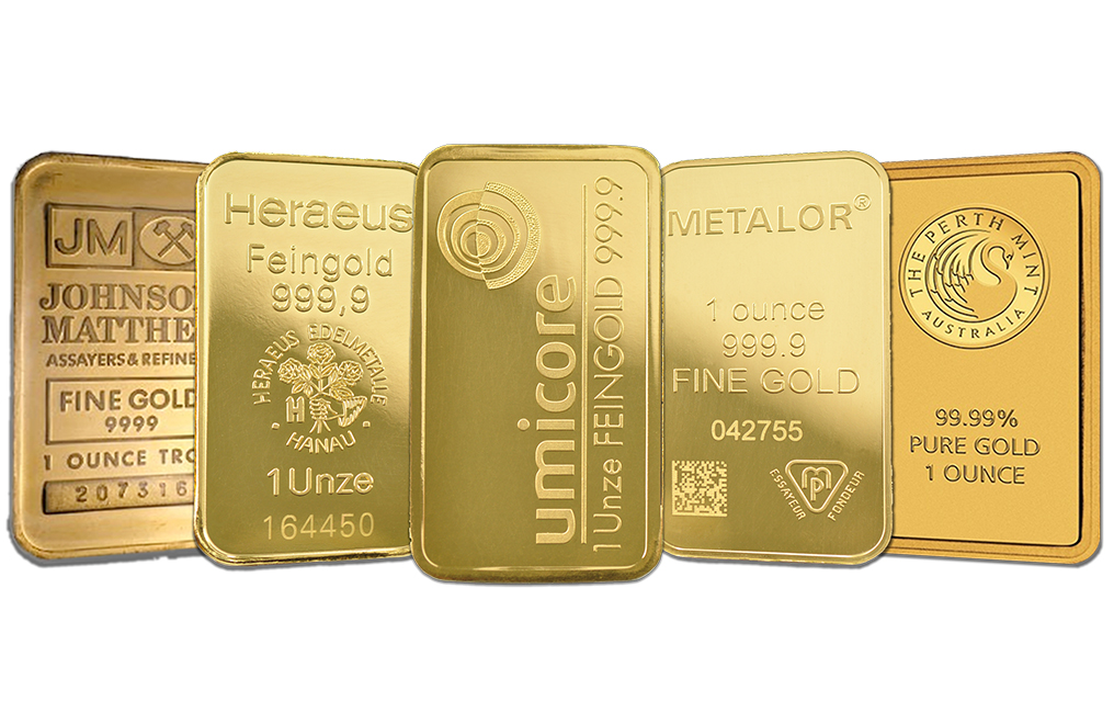 1 Oz Gold Bars Image 0