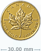1 oz Gold Canadian Maple Leaf Coin[US shipping week of April 20]