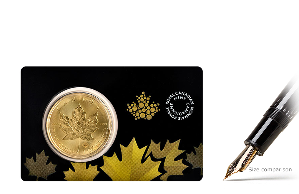 Sell 1 oz Canadian Gold Maple Leaf Coins with Assay Card, image 0