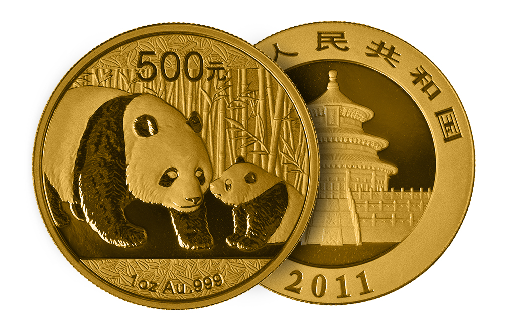 Buy 1 oz Gold Panda Coins, image 2