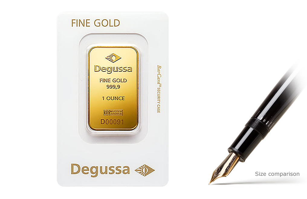 Buy 1 oz Gold Bars by Degussa, image 0