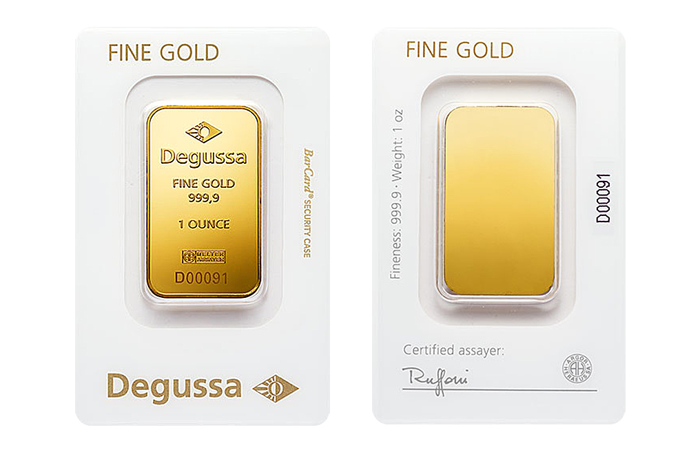 Buy 1 oz Gold Bars by Degussa, image 2