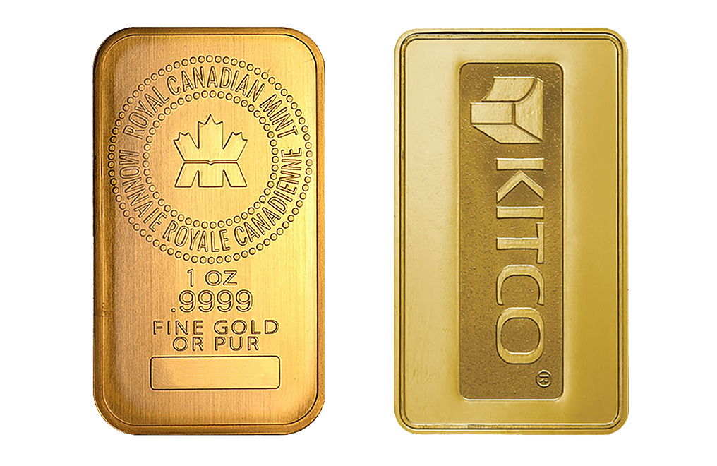 Kitco 1 Oz Gold Bars Image 2