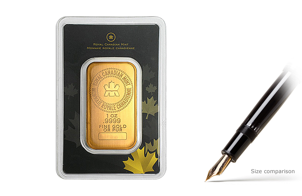 Buy Canadian 1 oz Gold Bars, image 1