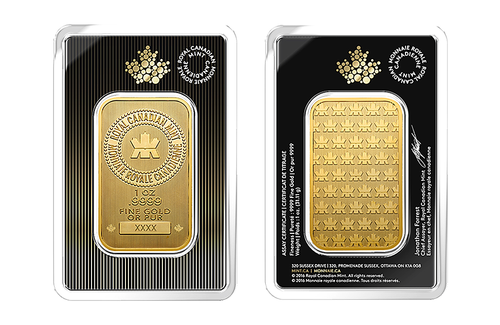 Canadian 1 Oz Gold Bars