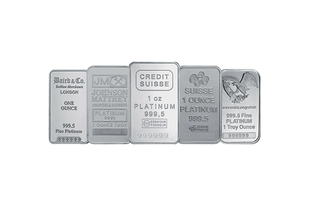 Buy 1 oz Platinum Bars, image 0