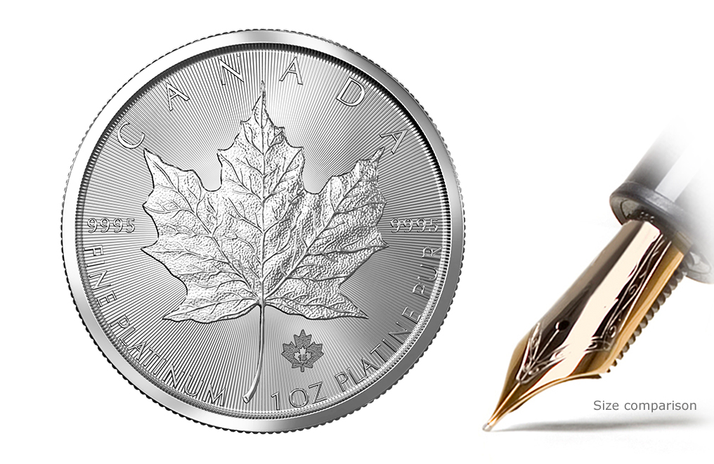 1 oz Platinum Canadian Maple Leaf Coin, image 0