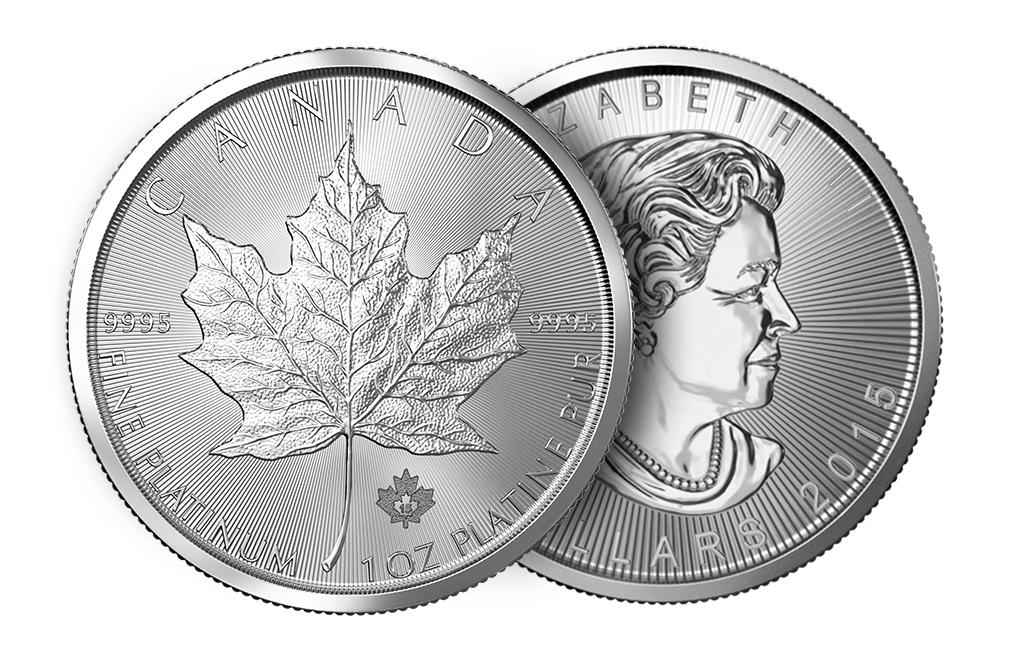1 oz Platinum Canadian Maple Leaf Coin, image 2