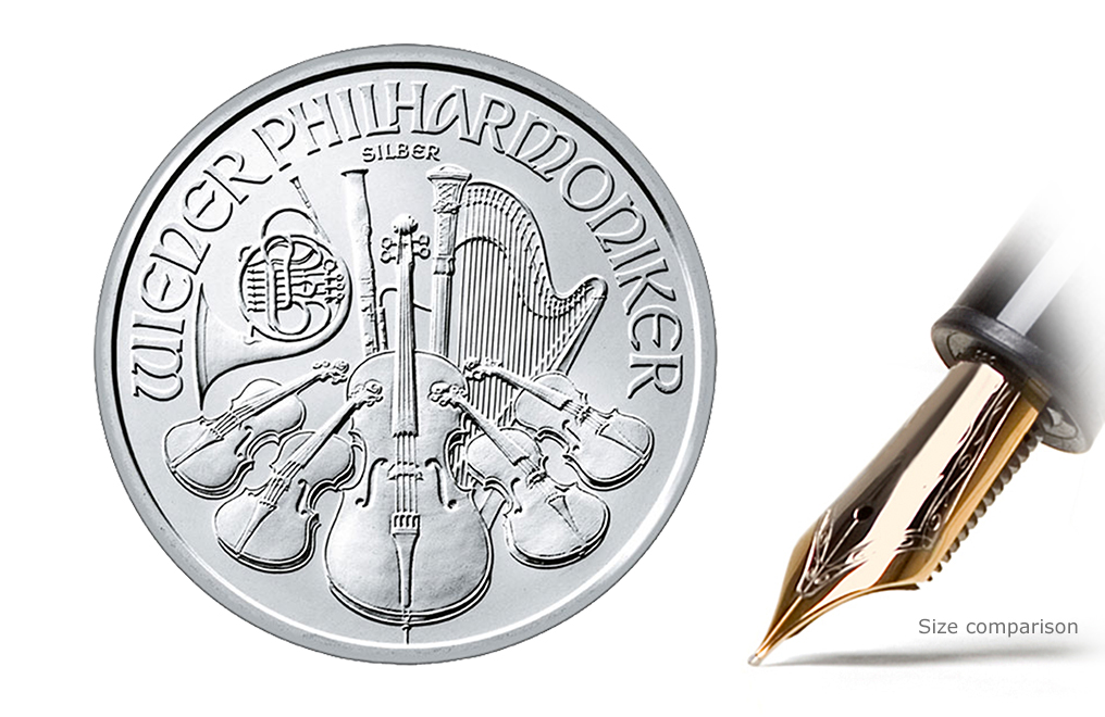 Buy 1 oz Silver Philharmonic Coins, image 1